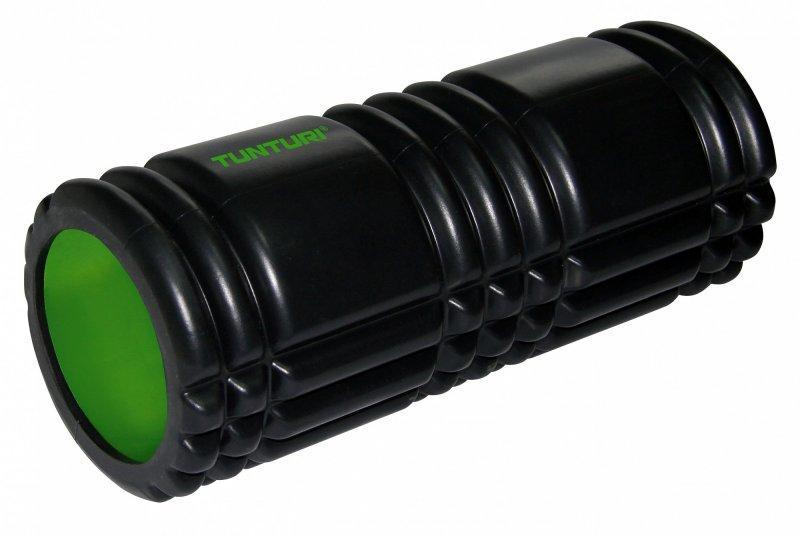 Masážní válec Foam Roller TUNTURI 33 cm / 13 cm černozelený
