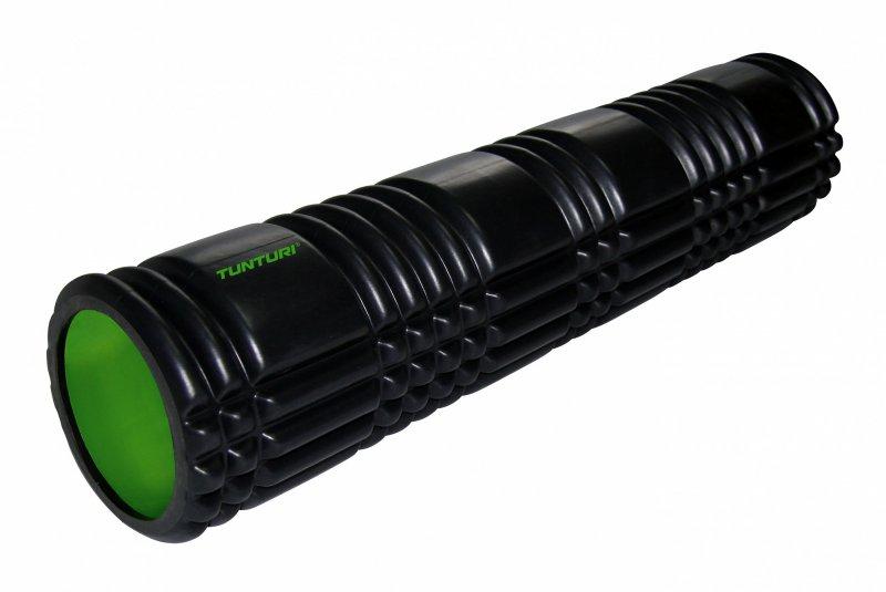 Masážní válec Foam Roller TUNTURI 61 cm / 13 cm černozelený