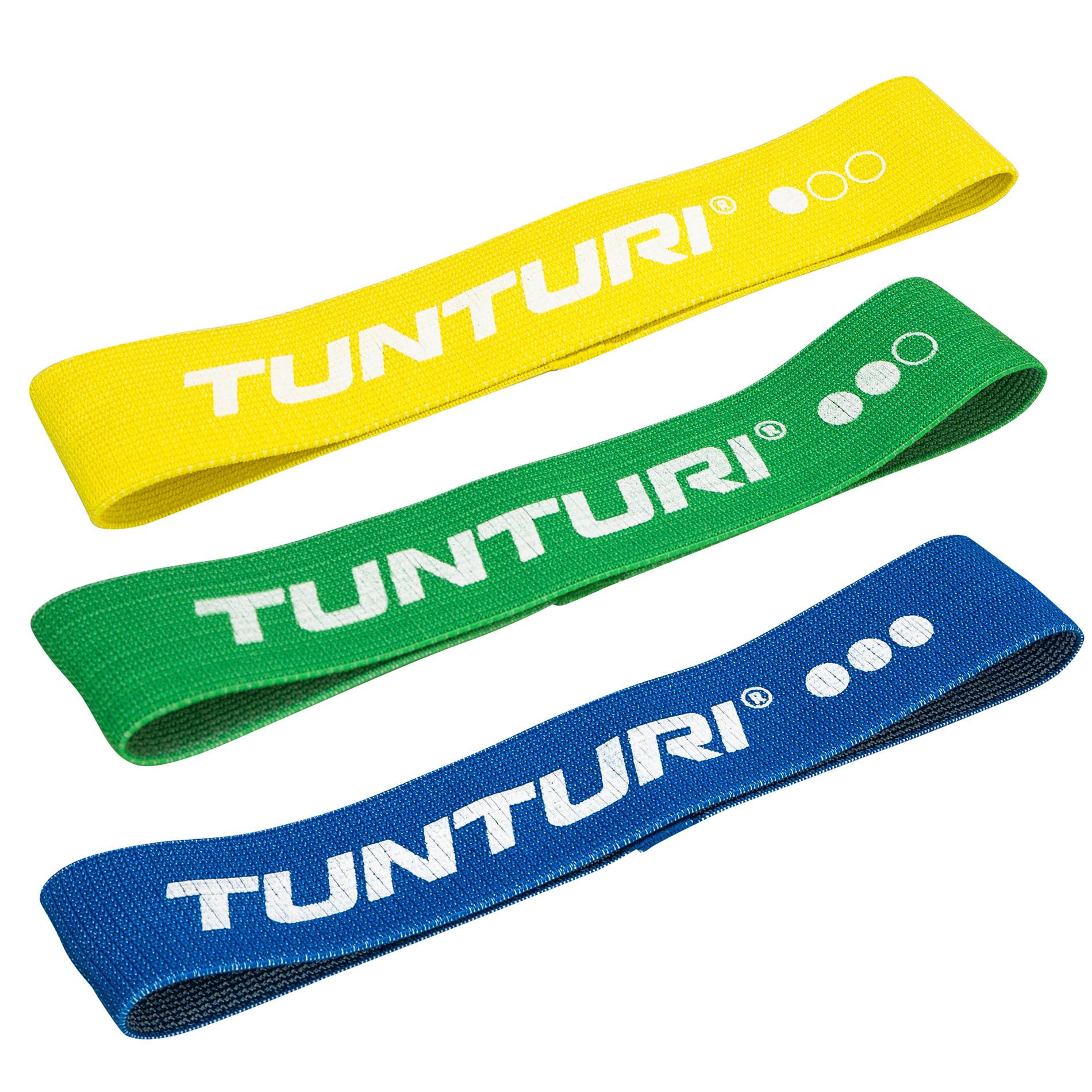 Set textilních odporových gum TUNTURI - 3 kusy