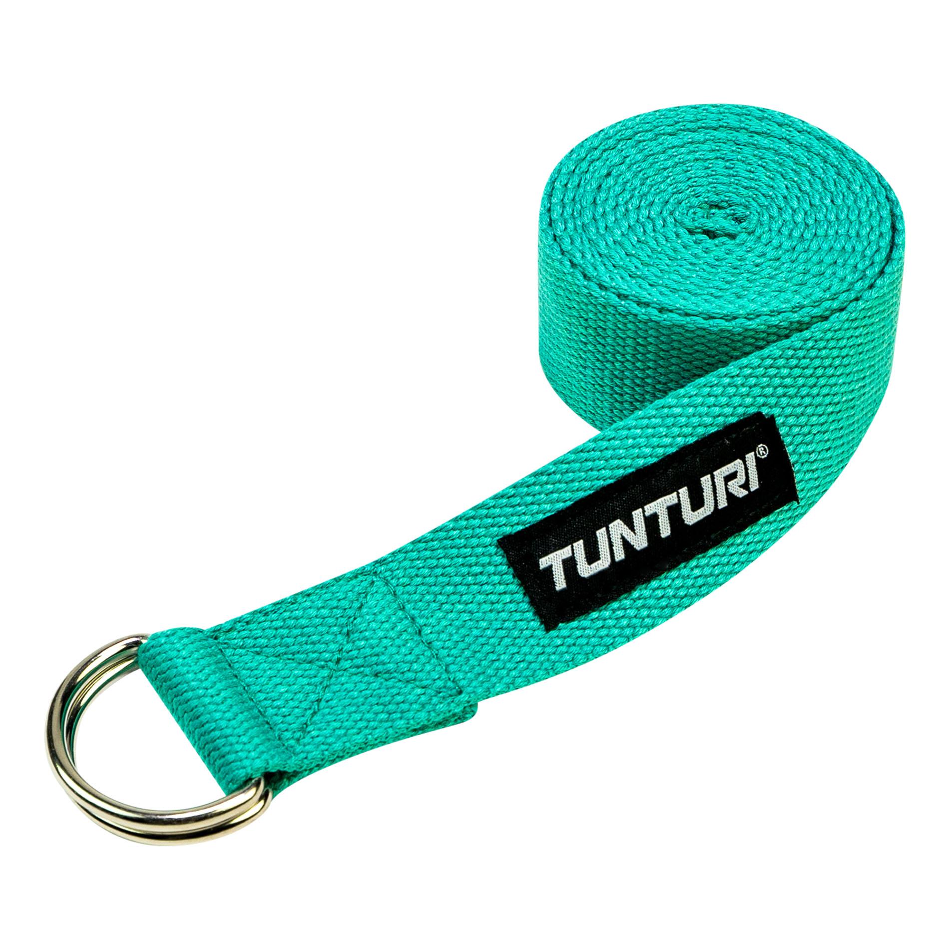 Popruh na jogu TUNTURI Yoga Straps 200 cm azurový