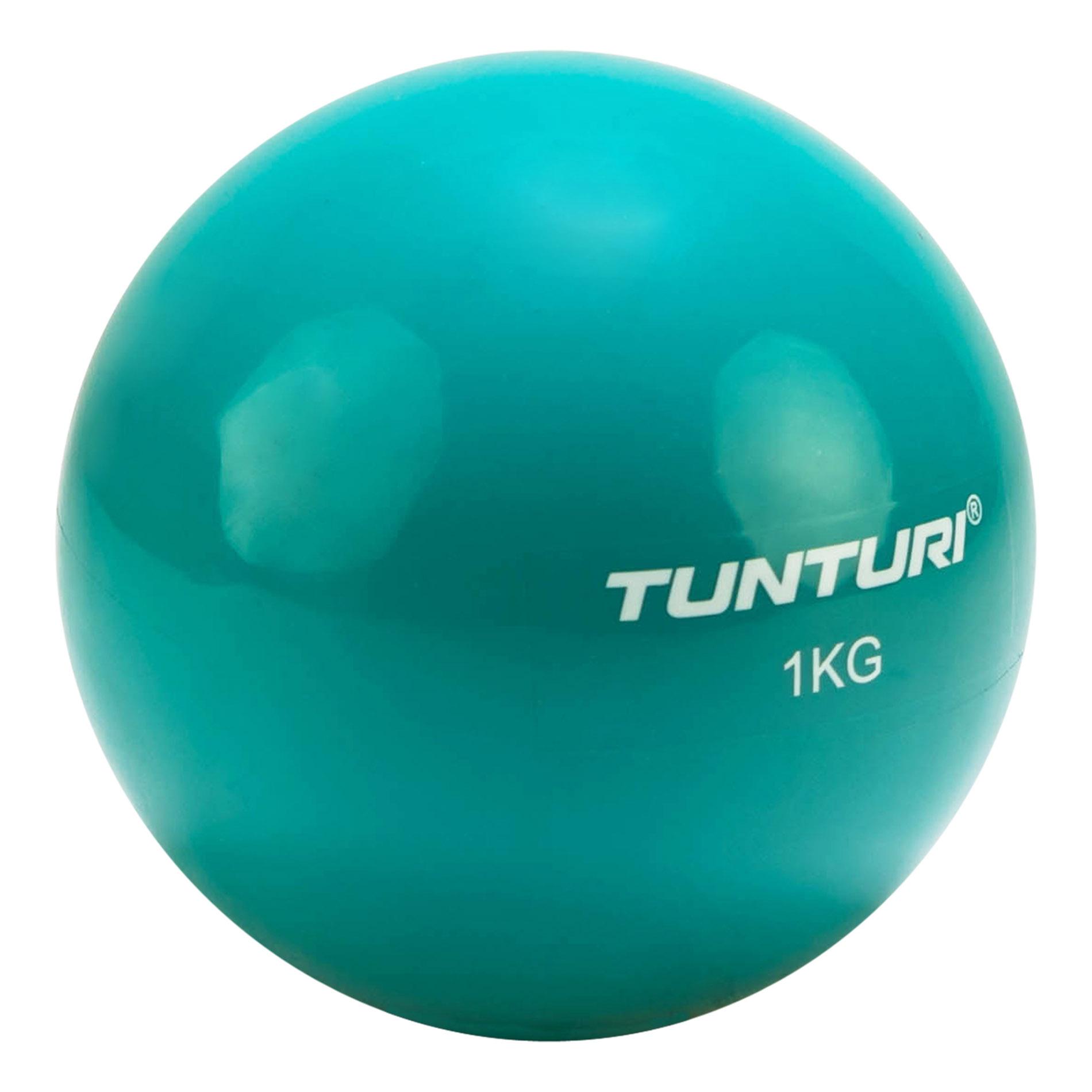 Joga míč Toningbal 1 kg TUNTURI azurový