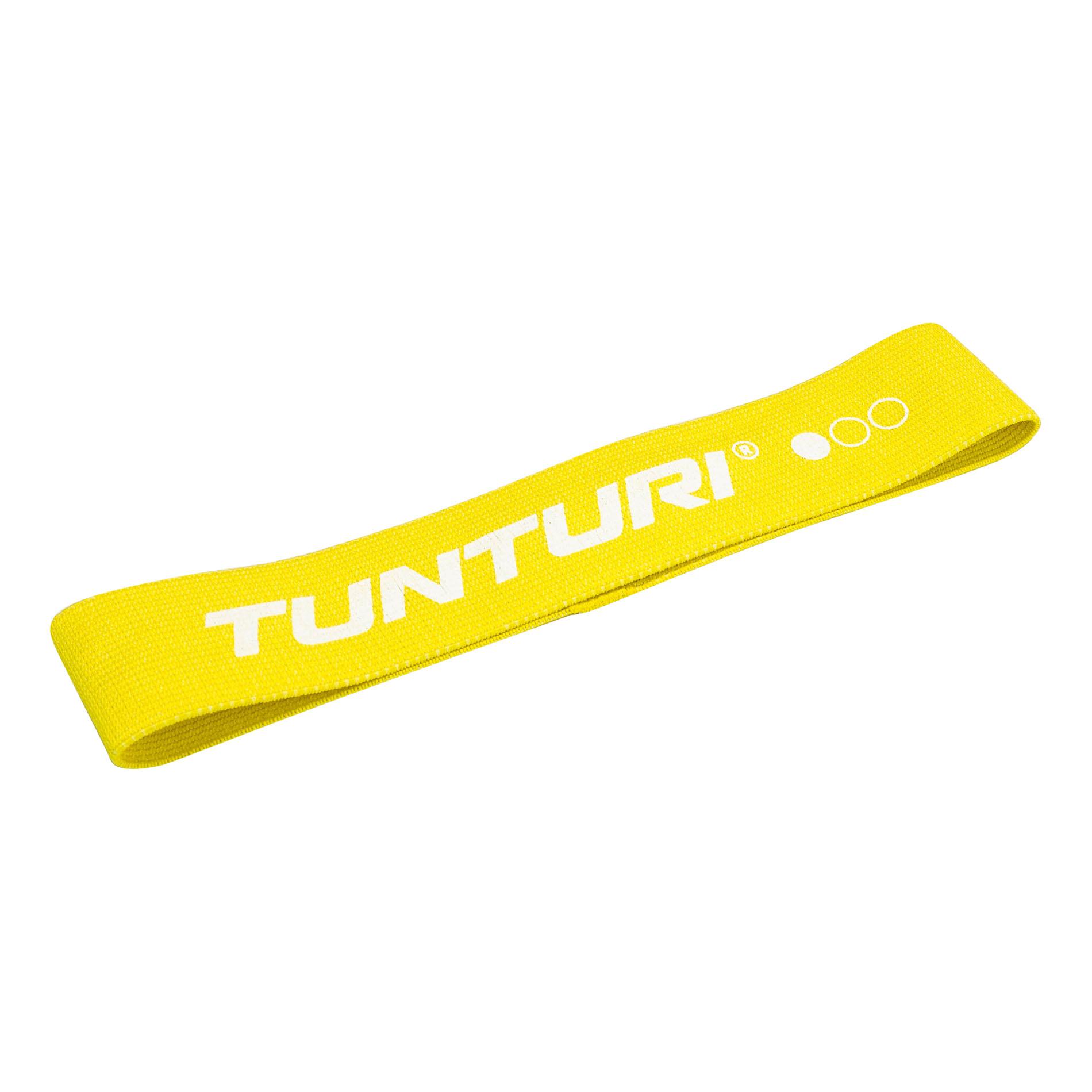 Odporová guma textilní TUNTURI Resistance Band - lehká žlutá