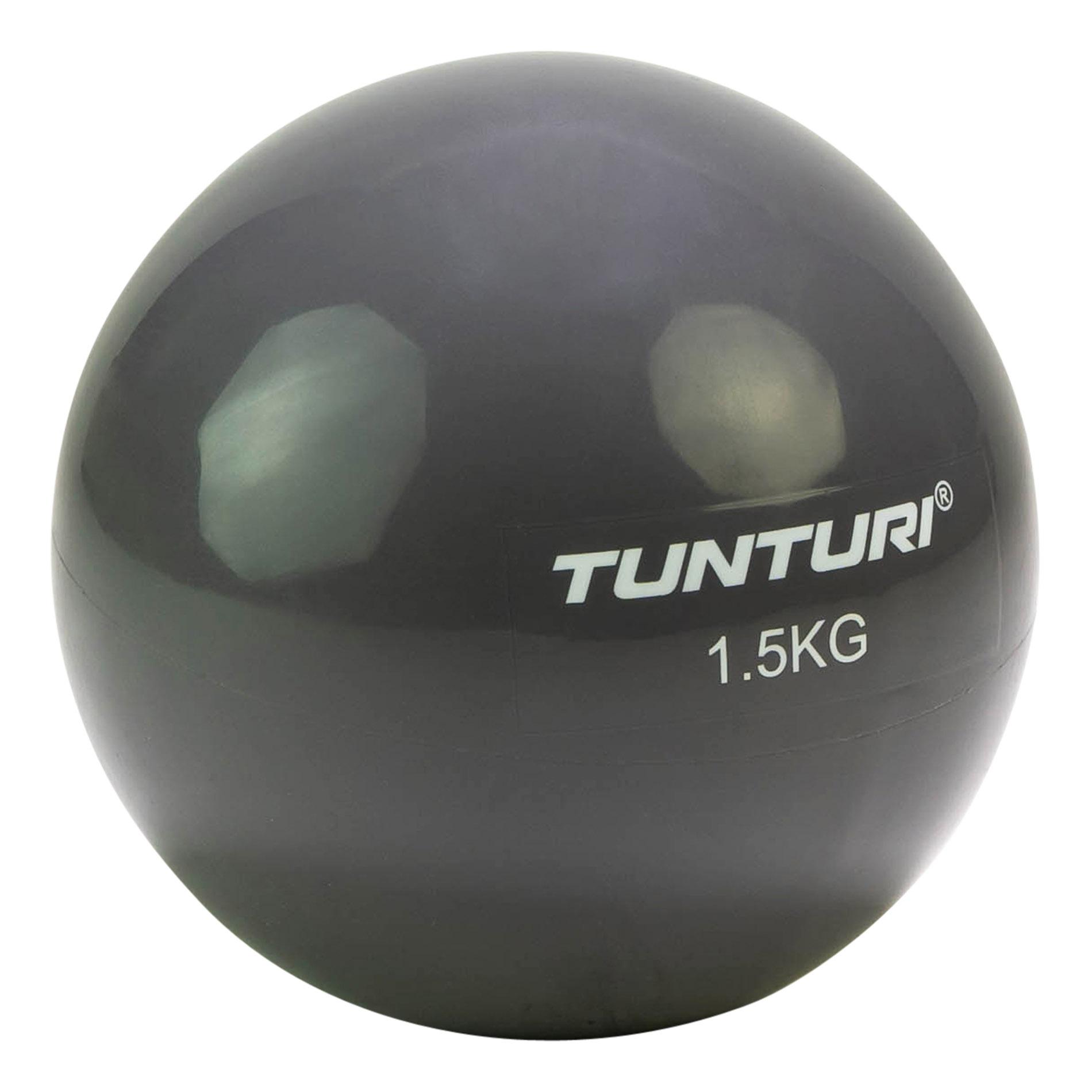 Joga míč Toningbal 1,5 kg TUNTURI antracitový